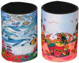 东莞市茶山厂家直销可爱卡通潜水料杯套,瓶套,促销宣传活动赠品订制LOGO
