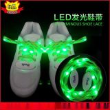 led發光鞋帶廠家批發新款尼龍織帶熒光閃光騎行鞋帶燈條
