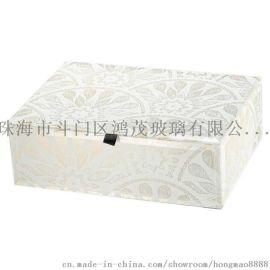鸿茂玻璃厂家定制代加工玻璃首饰盒收纳盒家居饰品