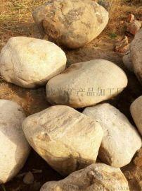 山东草坪上的天然大块鹅卵石,人工湖驳岸鹅卵石