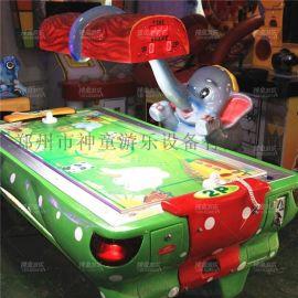 儿童游戏机 双人气垫球 投币电玩设备 小象曲棍球