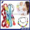 厂家定制硅胶彩色抗疲劳珠子项链/硅胶可咀嚼珠子项链/欧美配饰