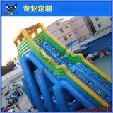 充氣水滑梯水上樂園飛人滑梯一飛沖天大滑梯支架水池游泳遊樂設備