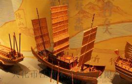 手工制作展览展示古木船模型定制