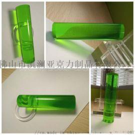 **亚克力棒 透明绿色 PMMA有机玻璃 可定做
