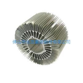 佛山定制矿灯铝型材散热器 铝型材太阳花散热器开模