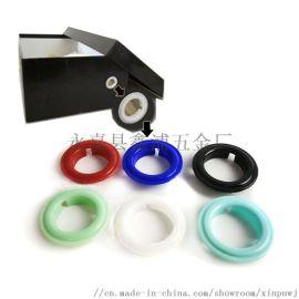 1.8鞋盒气眼凤眼塑料鞋盒圈鸡眼扣塑胶汽眼扣胶扣