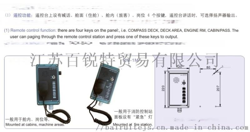 RM-1F防風雨遙控臺 RM-1G壁式遙控臺