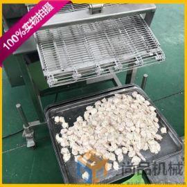 鸡米花专用裹粉机@全自动鸡米花油炸生产线