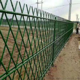 仿真围栏草坪围挡不锈钢仿竹护栏