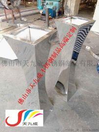 供应圆形/锥形/V形/异形摆设装饰不锈钢花盆花钵