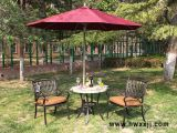 咖啡洞瓷砖圆桌户外铸铝桌椅阳台休闲桌椅花园家具休闲家具