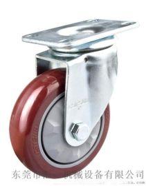 4寸万向脚轮 中型万向轮 聚氨酯脚轮 PU脚轮