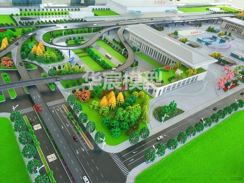 南京模型公司交通沙盘 高速公路沙盘 桥梁模型订制