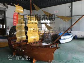 定做木船景观 西方海盗船厂家 大型船模制作