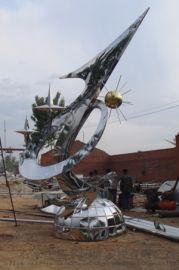 兰亭园林之不锈钢雕塑