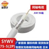 金环宇电缆 国标物理发泡绝缘同轴电缆 SYWV 75-5(2P)AM 96编