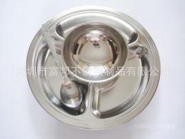 深圳食堂餐具,不锈钢快餐盘碗勺筷套装