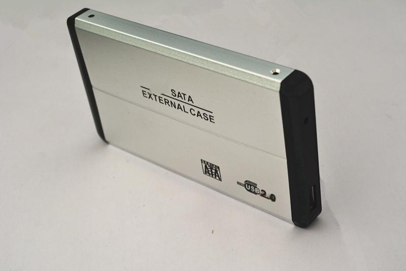 直销 笔记本移动硬盘盒2.5寸SATA USB2.0串口铝合金硬盘外接盒子