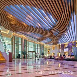 型材铝方通0.6厚度长6米吊顶天花热转印木纹铝方管