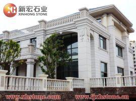 广东别墅外墙石雕刻工程