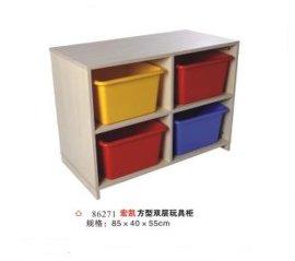方型双层玩具柜