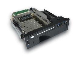 供应2.5+3.5内置5.25光驱位硬盘抽取盒,SATAIII接口免工具抽取