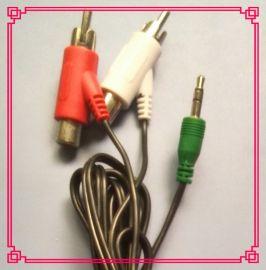3.5立体声  转 型RCA莲花公母头, 音频线, rca  线,