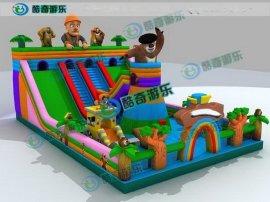 充气滑梯哪里有|儿童游乐设备滑梯价格|广州儿童游乐设备厂