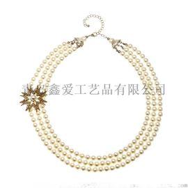 时尚夸张款宝石珍珠项链