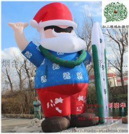 海盗版6m高充气圣诞老人卡通气模