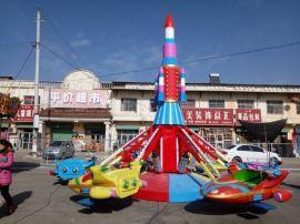 鹤岗大型儿童电动升降飞机游乐设备 广场自控飞机玩具设施