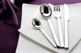 揭阳口福D65系列中式风格高档不锈钢刀叉勺套装