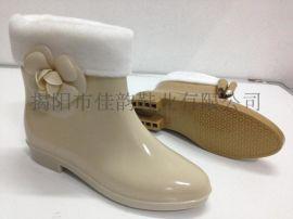 揭阳厂家供应女款时尚花朵雨鞋