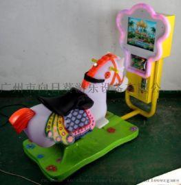3D老爷车摇摆车儿童投币游戏机亲子乐园