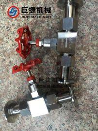 快装针型截止阀 卫生级卡箍式针型阀 不锈钢针型阀 仪表阀