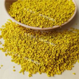 黃色橡膠顆粒 人造草坪填充橡膠顆粒 幼兒園運動地坪