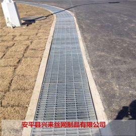地沟盖板格栅 环卫工程专用踏步板 钢格栅板理论重量