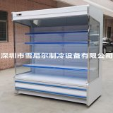 雪尼尔2米分体风幕柜 百果园水果保鲜柜 分体安装 压缩机安装于外墙