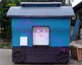 木制售卖亭  冰淇淋售货车  户外木制移动贩卖车厂家直销