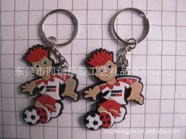 足球运动滴塑钥匙扣促销礼品 ,运动钥匙圈吊饰定做