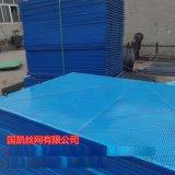 Q235低碳蓝色爬架网