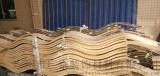 餐厅室内弧形木纹铝方通-餐厅  u型铝方通装饰【厂家批发价详细页面】