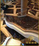 供应精美不锈钢护栏、镀钛栏杆,镀钛楼梯扶手、定制钛金围栏