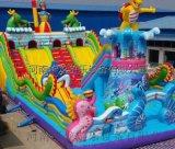 华龙游乐充气城堡充气大滑梯儿童蹦蹦床广场游乐设备