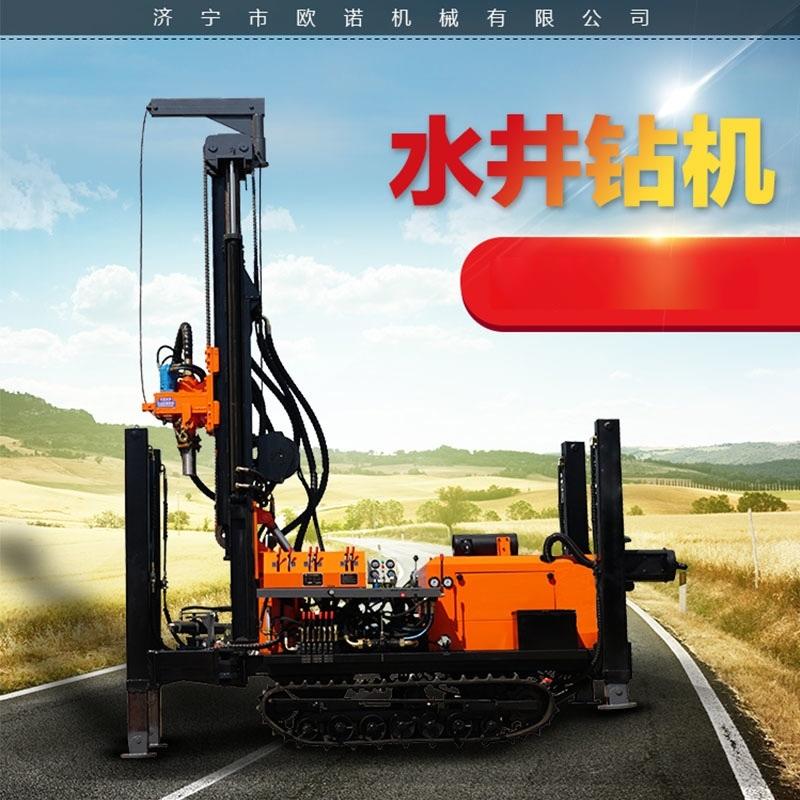 液压回转式水井钻机 履带式水井钻机 气动水井钻机