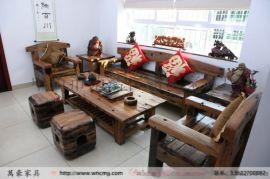 万豪船木家具老船木茶桌椅组合功夫泡茶桌桌