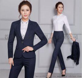 职业装女装套装 秋冬长袖西服 经理西装工作服两件套