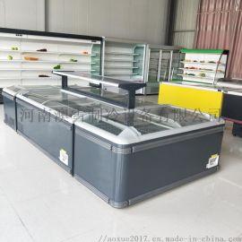 凌雪超市组合岛柜卧式冰柜速冻展示柜河南冷柜厂家