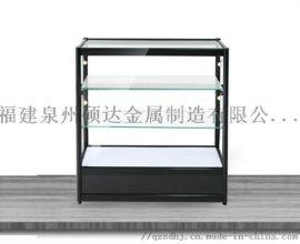 福建精品展柜玻璃展柜泉州展示用品钛合金展架